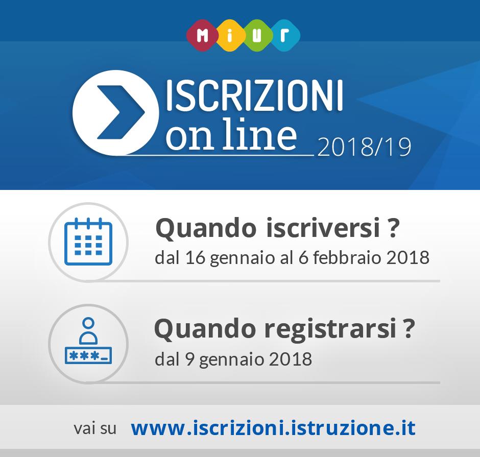 Iscrizioni online 2018-2019