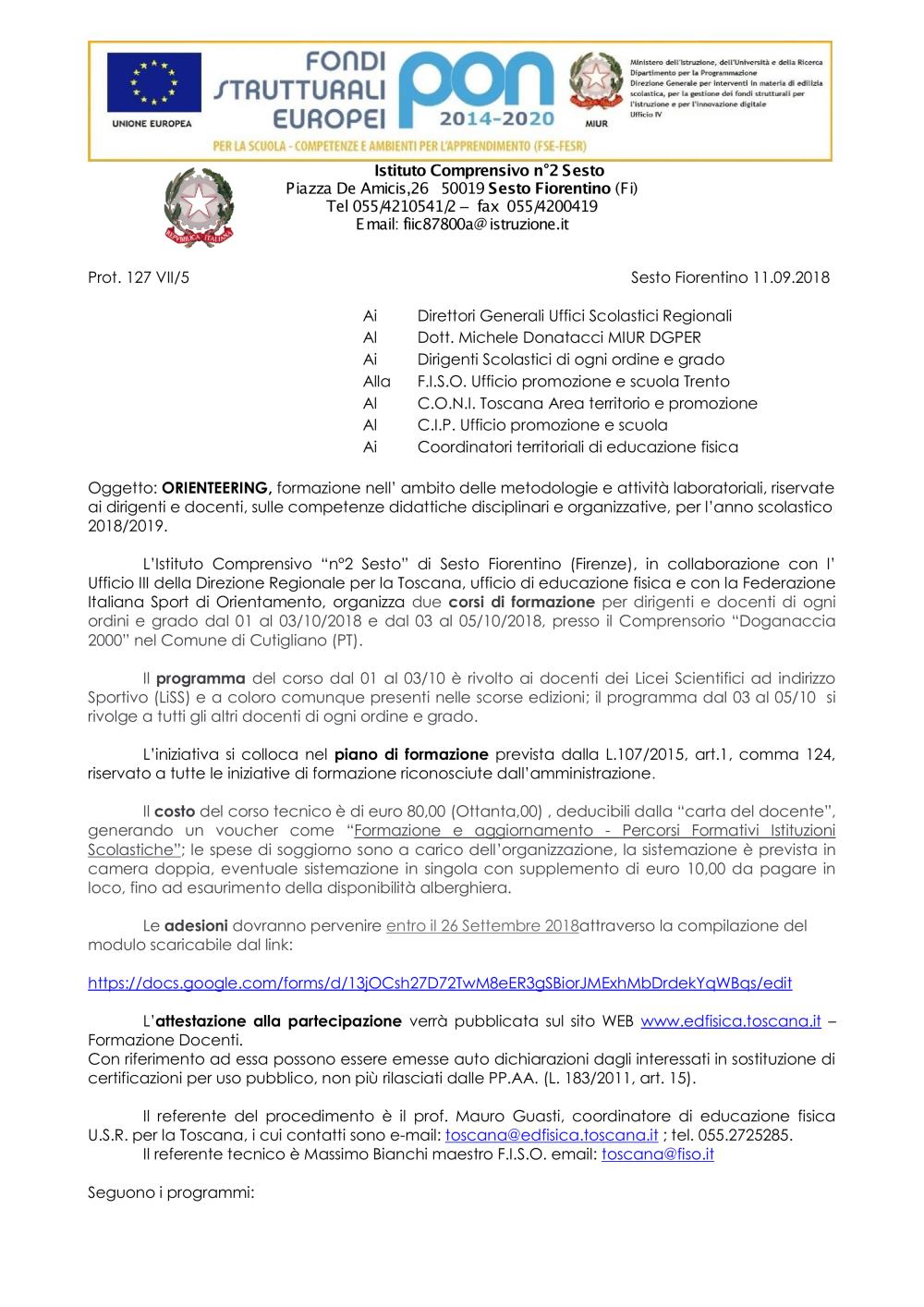 ORIENTEERING_FORMAZIONE 2018_2019.pdf - Ricerca - Miur